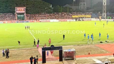 Tingkat kepadatan atau okupansi Stadion Andi Mattalatta Mattoanging (AMM), Makassar, menurun drastis di setiap laga kandang PSM Makassar di Shopee Liga 1 2019. - INDOSPORT