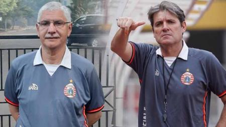Edson Tavares dan Julio Banuelos saat melatih Persija Jakarta. - INDOSPORT