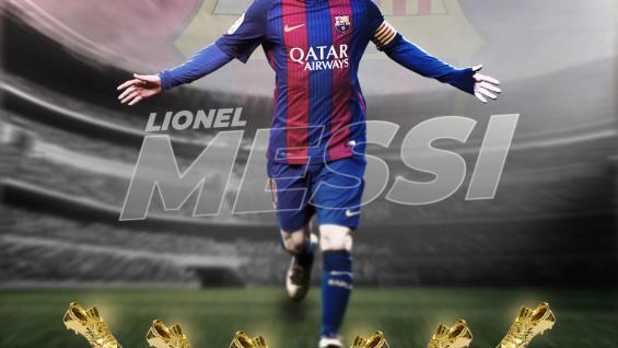 Lionel Messi mendapat penghargaan sepatu emas yang ke-6. Copyright: Grafis: Eli Suhaeli/INDOSPORT