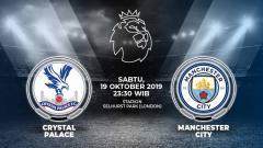 Indosport - Pertandingan Crystal Palace vs Manchester City.