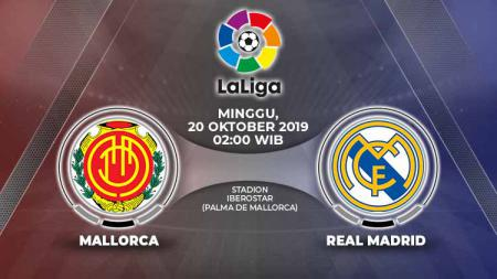 Pertandingan Mallorca vs Real Madrid. - INDOSPORT