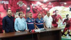 Indosport - Konferensi pers Komite Pemilihan PSSI pada Kamis (171019) di Kantor PSSI Senayan, Jakarta.