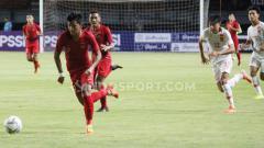 Indosport - Laga Timnas Indonesia U-19 versus China U-19 di Stadion Gelora Bung Tomo, Surabaya, Kamis (17/10/19).