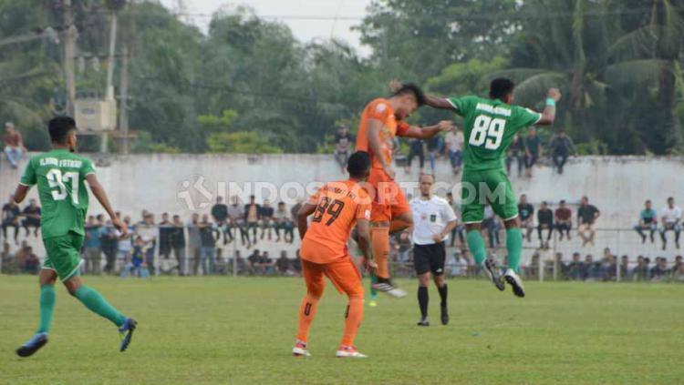 Laga PSMS Medan lawan Persiraja Banda Aceh di Stadion Langsa, Aceh, Kamis (17/10/2019) sore. Copyright: Aldi Aulia Anwar/INDOSPORT