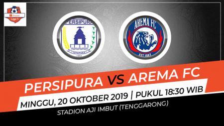 Hasil pertandingan Liga 1 2019 antara Persipura Jayapura vs Arema FC di Stadion Aji Imbut, Minggu (20/10/19), skor akhir 2-2 untuk kedua tim. - INDOSPORT