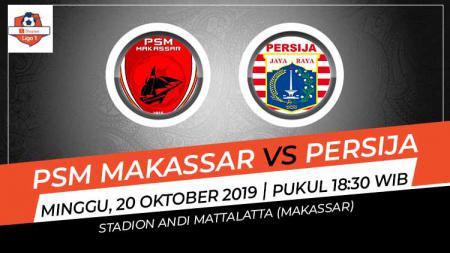 Persija Jakarta harus menjalani laga berat di kandang PSM Makassar pada pertandingan pekan ke-23 Liga 1 2019, Minggu (20/10/19). - INDOSPORT