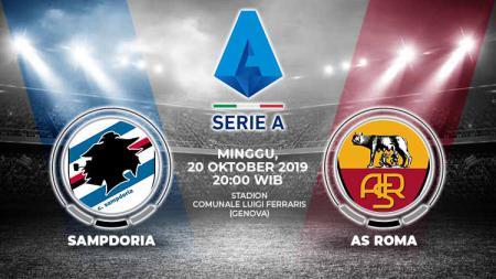 Pertandingan Sampdoria vs AS Roma. - INDOSPORT