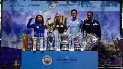Indosport - Acara Manchester City Trophy Tour 2019 yang menghadirkan trofi klub Liga Inggris tersebut bersama sang legenda, Paul Dickov.