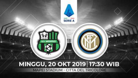 Inter Milan dipercaya akan menjalani ujian berat jika melihat rekor pertemuan terakhir dengan Sassuolo. - INDOSPORT