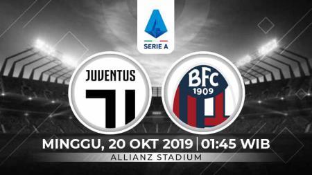 Juventus diprediksi akan mempertahankan posisi puncak klasemen dengan mengalahkan Bologna pada pekan kedelapan Serie A Italia, Minggu (20/10/19), 01.45 WIB. - INDOSPORT