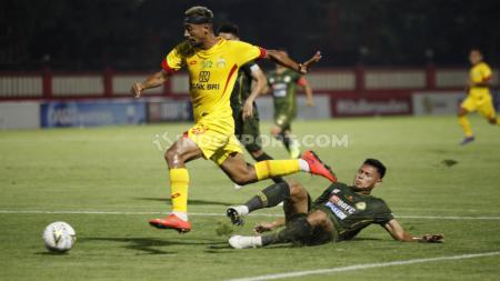 Kemenangan Bhayangkara FC atas TIRA Persikabo dalam pertandingan bertajuk Derby Aparat di Liga 1 2019, menghadirkan tiga buah fakta. - INDOSPORT
