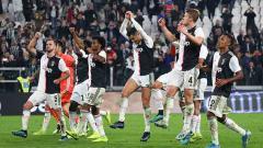Indosport - Aksi selebrasi pemain Juventus usai laga melawan Bologna