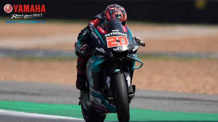 Fabio Quartararo dalam lintasan balap GP Thailand - INDOSPORT