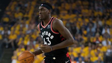Kehadiran Penyerang, Pascal Siakam, tetap tidak bisa menyelamatkan Toronto Raptors dari kekalahan lawan Bolton Celtics di pertandingan NBA Regular Season. - INDOSPORT