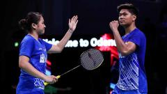 Indosport - Praveen Jordan/ti Daeva Oktavianti juara Denmark Open 2019.