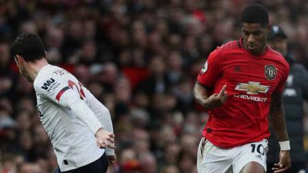 Marcus Rashford berhasil membawa Man United unggul atas Liverpool - INDOSPORT