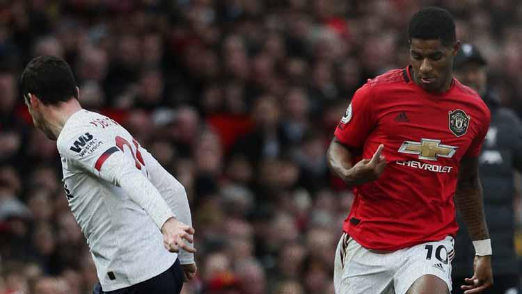 Marcus Rashford berhasil membawa Man United unggul atas Liverpool Copyright: Manchester UnitedVerified account