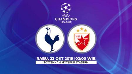 Prediksi pertandingan Liga Champions Tottenham Hotspur vs Red Star Belgrade matchday 3 Grup B, Sabtu (23/10/19), pukul 02.00 WIB, di Tottenham Hotspur Stadium. - INDOSPORT