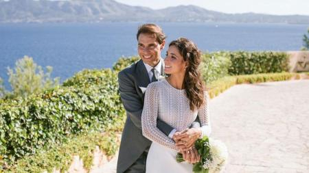 Rafael Nadal menikahi kekasihnya, Xisca Perello, setelah lama menjalin kasih. - INDOSPORT