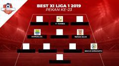 Indosport - Pemain klub Persib Bandung mendominasi starting eleven terbaik Shopee Liga 1 2019 pekan ke-23. Berikut susunan lengkapnya.