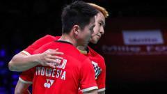 Indosport - Prestasi membanggakan ganda putra bulutangkis Indonesia, Kevin Sanjaya Sukamuljo dan Marcus Fernaldi Gideon mendapat sorotan khusus dari BWF.