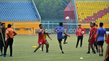 Latihan recovery Sriwijaya FC beberapa waktu lalu menjelang laga Liga 2 2019. - INDOSPORT