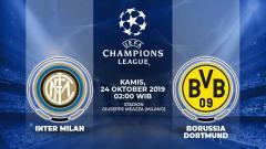 Indosport - Prediksi pertandingan Liga Champions 2019-2020 Inter Milan vs Borussia Dortmund.