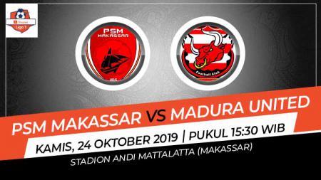 Pertandingan PSM Makassar vs Madura United. - INDOSPORT