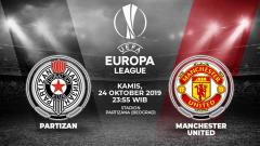 Indosport - Manchester United akan bertandang ke markas Partizan Belgrade pada pertandingan ketiganya di fase Grup L Liga Europa 2019/20, Jumat (25/10/19).