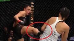Indosport - Petarung MMA asal Australia, Nadia Kassem harus menanggung malu saat bertanding di UFC 243 melawan petarung asal Korea Selatan Ji Yeom Kim pada, Senin (07/10/19).