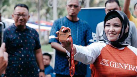 Peluncuran Medali Borobudur Marathon 2019. - INDOSPORT