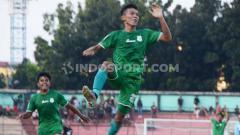 Indosport - Pemain PSMS Medan, Eki Fauji Saputra, tak menyangka dapat mencetak dua gol dari set piece saat mengalahkan BaBel United di pertandingan Liga 2 2019.