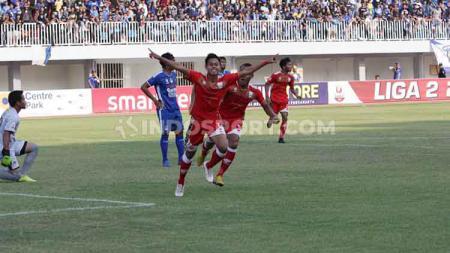 Persis Solo menutup kompetisi Liga 2 2019 dengan heroik. Tim berjulukan Laskar Sambernyawa itu membungkam tuan rumah sekaligus musuh bebuyutan PSIM Yogyakarta, 3-2 di Stadion Mandala Krida, Senin (21/10/19). - INDOSPORT