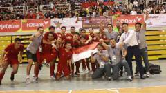 Indosport - Timnas futsal Indonesia berhasil menjadi pemuncak Grup B Piala AFF Futsal 2019 dengan torehan 7 poin.