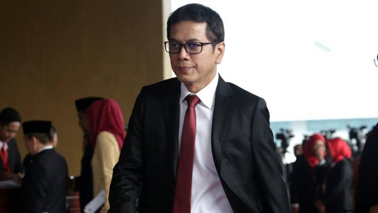 Menteri Pariwisata dan Ekonomi Kreatif Wishnutama adalah penggemar Persipura. Copyright: Ajeng Dinar Ulfiana/Kata Data