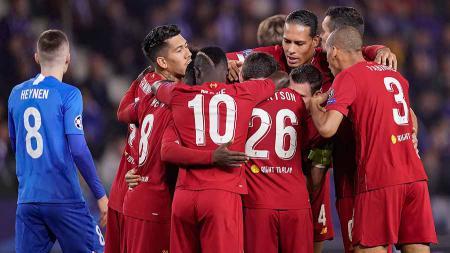 Liverpool diprediksi tidak akan melaju ke fase gugur Liga Champions dan terlempar ke Liga Europa musim ini. - INDOSPORT