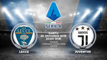 Laga pekan kesembilan Serie A Italia 2019/20 antara Lecce melawan Juventus, Sabtu (26/10/19), pukul 20.00 WIB, bisa disaksikan lewat situs live streaming. - INDOSPORT