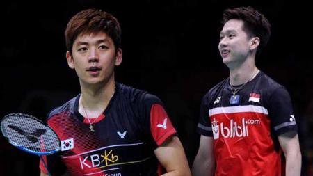 Pebulutangkis Kevin Sanjaya Sukamuljo sukses mengalahkan Jonatan Christie dan Lee Yong-dae untuk menyabet penghargaan pemain putra tertampan versi warganet. - INDOSPORT