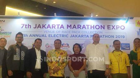 Event lari terbesar di Tanah Air, Jakarta Marathon akan berlangsung akhir pekan ini, Minggu (27/10/19). - INDOSPORT