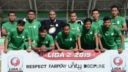 Skuat PSMS Medan di Liga 2 2019. PSMS berada di grup B babak 8 besar Liga 2 bersama Persik Kediri, Persita Tangerang, dan Martapura FC. - INDOSPORT