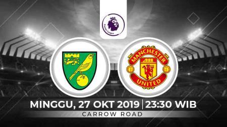 Pertandingan Norwich vs Manchester United di Liga Inggris bisa disaksikan melalui siaran live streaming. - INDOSPORT