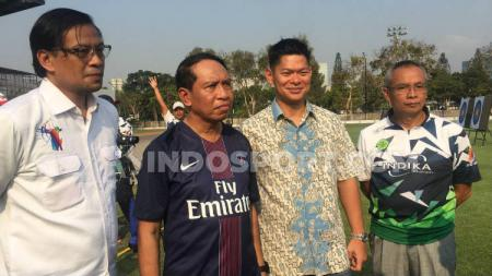 Menpora Zainudin Amali, Jumat (25/10/19) langsung mengunjungi tiga cabang olahraga yang tengah menjalani pemusatan latihan (Pelatnas) di kawasan Gelora Bung Karno (GBK) Senayan - INDOSPORT