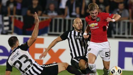 Bek kiri muda klub Liga Inggris, Manchester United, Brandon Williams. - INDOSPORT