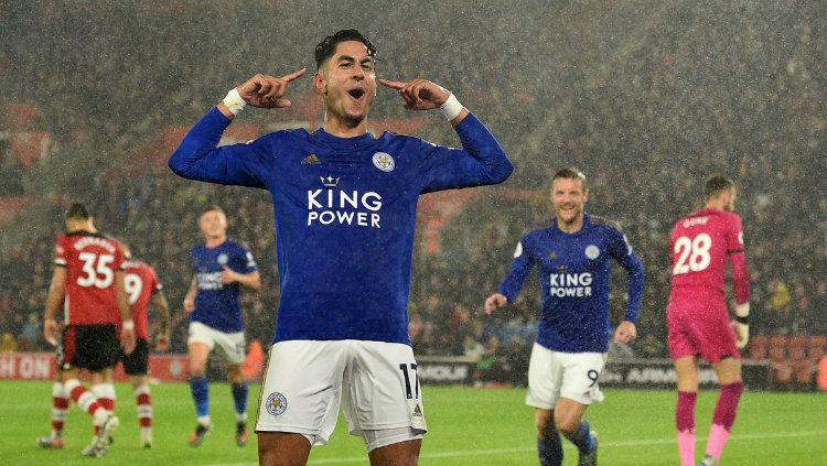 Selebrasi Ayoze Perez ketika mampu mencetak gol ke gawang Southampton di Liga Inggris, (26/10/19). Copyright: twitter.com/optajoe