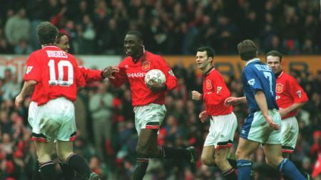 Pertandingan Liga Inggris Manchester United vs Ipswich Town yang berkahir 9-0, (03/03/95) - INDOSPORT