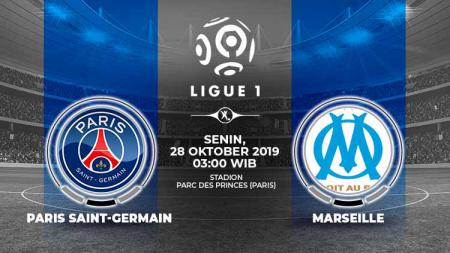 Pertandingan Paris Saint-Germain vs Olympique de Marseille. - INDOSPORT