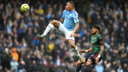 Penyerang Manchester City, Gabriel Jesus, siap mengisi peran Sergio Aguero di pertandingan Liga Champions menghadapi Shakhtar Donetsk. - INDOSPORT