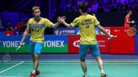 Wakil Indonesia dipastikan tidak akan terlibat dalam turnamen bulu tangkis Korea Masters 2019 yang akan dihelat mulai 19-24 November 2019, seperti Kevin/Marcus. - INDOSPORT