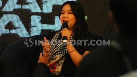 Viola Kurniawati bicara banyak hal di acara HalfTimeSession PSIM Yogyakarta, termasuk gelaran Liga Indonesia di tengah pandemi corona. - INDOSPORT