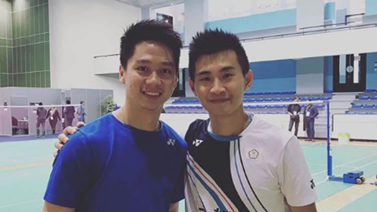 Pemain Taiwan, Su Ching Heng meminta maaf ke Kevin Sanjaya usai semifinal French Open 2019 Copyright: Instagram/king_su